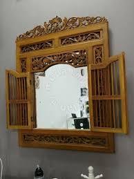 Cermin Brown cermin hiasan furniture decoration for sale in puncak alam selangor