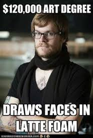 Hipster Meme Generator - won t eat partially hydrogenated pb smokes cigarettes hipster