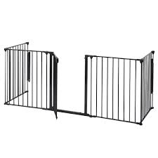 baby safety fence hearth gate bbq metal fire rail fireplace child