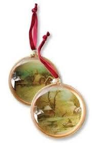 winter pastorale diorama ornament vintage