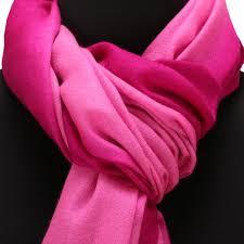 fuschia pink pure pashmina stole