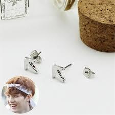 boy earrings youpop kpop bts bangtan boys album arrow earrings korea fashion