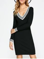 sweater dresses black long sleeve knit and plus size sweater