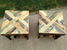 How To Build Wood End Tables by Diy Pallet End Tables