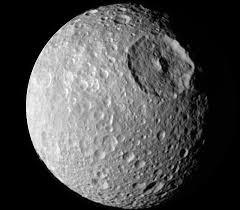 apod 2009 may 17 mimas small moon with a big crater