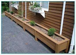 wooden garden planters plans