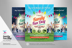 free flyer designs family fun day flyers flyer templates creative market