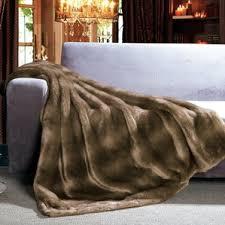 Faux Fur Comforter Set King Faux Fur Blankets U0026 Throws You U0027ll Love Wayfair