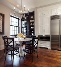 black lacquer table kitchen transitional with dining chairs dining