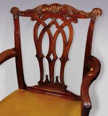 An Antique Chippendale Period Mahogany Armchair C 1760 England