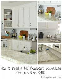how to install backsplash in kitchen how to install a diy beadboard backsplash kitchen makeover