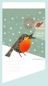 christmas card 2013 robin design with bird seed dougie scott