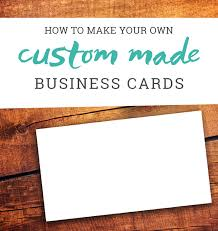 Text Your Business Card How To Make Your Own Business Cards A Tutorial