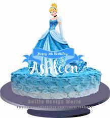 cinderella cake aliexpress buy princess cinderella edible cake topper wafer
