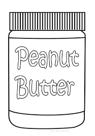 peanut butter jar coloring kids food pages peanut