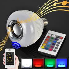 bluetooth music light bulb e27 smart bulb light dimmable 12w rgbw wireless bluetooth speaker