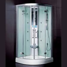 steam shower cubicle glass circular with sliding door