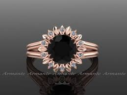 wedding ring on right sun flower engagement ring black engagement ring