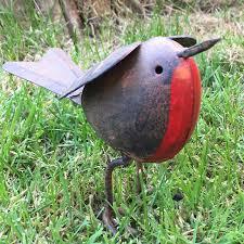 rustic robin metal garden ornament the farthing homewares