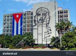 Che Guevara Flag Havana January 28 Cuban Flag Sculpture Stock Photo 120326527