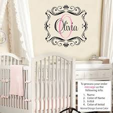 olivia wall decal childrens personalized name childrens wall art olivia wall decal childrens personalized name childrens wall art name wall decal monogram nursery decor amazon com