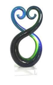 large 24cm and 36cm maori koru glass ornaments http www shopnz