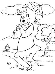 cindy bear coloring