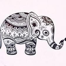 mosaic coloring adults elephant mandala