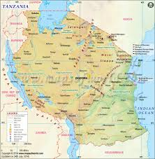 Spain On A World Map by Tanzania Map Map Of Tanzania