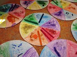 color wheel craft for preschoolers dandelions on the wall