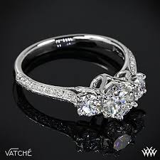engagement ring settings only platinum vatche 324 swan 3 engagement ring setting only
