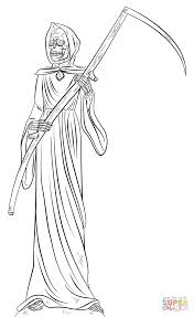 grim reaper coloring page free printable coloring pages