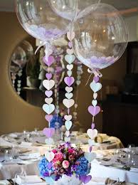 balloon centerpiece ideas balloon centrepiece table decoration with heart strings for a