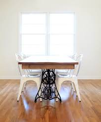 our diy dining table from an old sewing machine all sorts of
