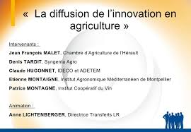 chambre agriculture herault table ronde la diffusion de l innovation en agriculture