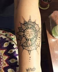 on faces of moon sun henna and sun moon tattoos