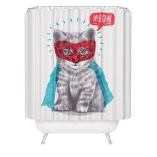 Shower Curtains With Red Super Hero Cat Lover Shower Curtain Cute Funny Kitten Feline