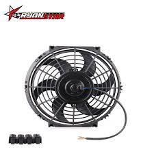 10 inch radiator fan universal 8 9 10 12 14 inch 12v 80w 2100rpm straight black blade