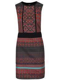 rochie etno rochie midi multicolora cu motive etno desigual birmania zoot ro