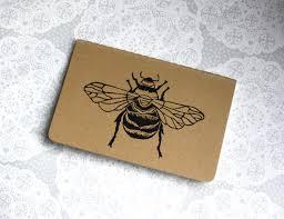 bumble bee note book honey bee moleskine cahier journal