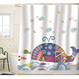 Kids Fabric Shower Curtain - amazon com kids fabric shower curtain nautical bathroom decor by