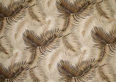 Upholstery Fabric Hawaii Tropical Hawaiian Palm Fronds Cotton Nubby Bark Cloth Upholstery