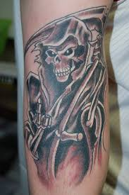 grim reaper skull tattoo on arm in 2017 real photo pictures