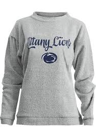 penn state nittany lions womens oatmeal comfy terry crew