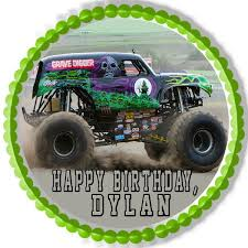 images of grave digger monster truck grave digger monster truck edible birthday cake or cupcake topper
