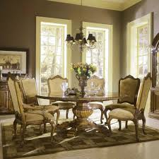round table dining room sets fascinating wood chair padded seat