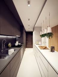 ideas for narrow kitchens kitchen narrow kitchen design ideas space small dark wood cabinets