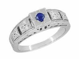 antique sapphire engagement rings vintage sapphire engagement
