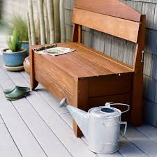 Storage Bench Outdoor Handsome Bench Hides A Hose Sunset