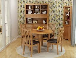 oak dining chair with brown seat pad hallowood